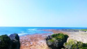 具志川城址から見える海