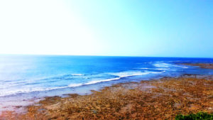 喜屋武岬近くの海