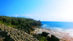 喜屋武岬近くの風景