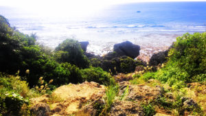 具志川城址の崖